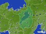 滋賀県のアメダス実況(風向・風速)(2020年03月01日)