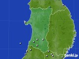 秋田県のアメダス実況(降水量)(2020年03月02日)