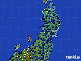 2020年03月02日の東北地方のアメダス(日照時間)