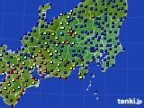 関東・甲信地方のアメダス実況(日照時間)(2020年03月02日)