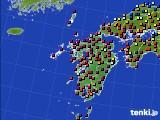 九州地方のアメダス実況(日照時間)(2020年03月02日)