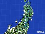 2020年03月02日の東北地方のアメダス(気温)