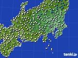 関東・甲信地方のアメダス実況(気温)(2020年03月02日)