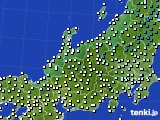 北陸地方のアメダス実況(気温)(2020年03月02日)