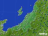 新潟県のアメダス実況(気温)(2020年03月02日)