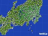 関東・甲信地方のアメダス実況(風向・風速)(2020年03月02日)