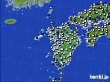 九州地方のアメダス実況(風向・風速)(2020年03月02日)
