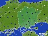 岡山県のアメダス実況(風向・風速)(2020年03月02日)