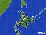 北海道地方のアメダス実況(積雪深)(2020年03月03日)