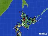 北海道地方のアメダス実況(日照時間)(2020年03月03日)