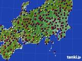 関東・甲信地方のアメダス実況(日照時間)(2020年03月03日)
