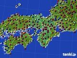 近畿地方のアメダス実況(日照時間)(2020年03月03日)