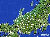 北陸地方のアメダス実況(気温)(2020年03月03日)