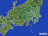 関東・甲信地方のアメダス実況(風向・風速)(2020年03月03日)