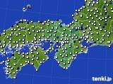 近畿地方のアメダス実況(風向・風速)(2020年03月03日)