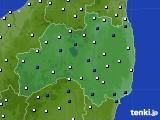 福島県のアメダス実況(風向・風速)(2020年03月03日)