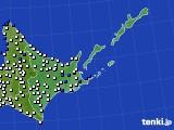 道東のアメダス実況(風向・風速)(2020年03月03日)