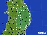 岩手県のアメダス実況(風向・風速)(2020年03月03日)