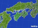 四国地方のアメダス実況(降水量)(2020年03月04日)