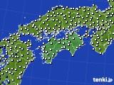 四国地方のアメダス実況(風向・風速)(2020年03月04日)