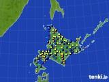 北海道地方のアメダス実況(積雪深)(2020年03月05日)