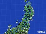 2020年03月05日の東北地方のアメダス(気温)