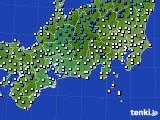 2020年03月05日の東海地方のアメダス(気温)