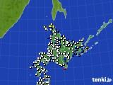 北海道地方のアメダス実況(風向・風速)(2020年03月05日)