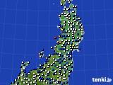 2020年03月05日の東北地方のアメダス(風向・風速)