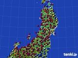 2020年03月07日の東北地方のアメダス(日照時間)