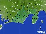 静岡県のアメダス実況(降水量)(2020年03月08日)