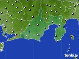 静岡県のアメダス実況(風向・風速)(2020年03月08日)