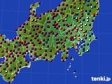 関東・甲信地方のアメダス実況(日照時間)(2020年03月09日)