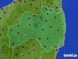 福島県のアメダス実況(日照時間)(2020年03月09日)