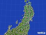2020年03月09日の東北地方のアメダス(気温)