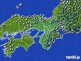 近畿地方のアメダス実況(降水量)(2020年03月10日)