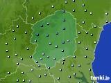 栃木県のアメダス実況(降水量)(2020年03月10日)