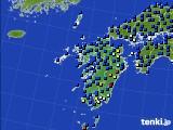 九州地方のアメダス実況(日照時間)(2020年03月10日)