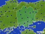 岡山県のアメダス実況(日照時間)(2020年03月10日)