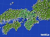 近畿地方のアメダス実況(風向・風速)(2020年03月10日)