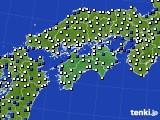 四国地方のアメダス実況(風向・風速)(2020年03月10日)