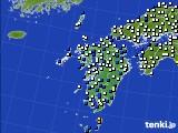 九州地方のアメダス実況(風向・風速)(2020年03月10日)