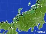 北陸地方のアメダス実況(降水量)(2020年03月11日)