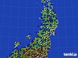 2020年03月11日の東北地方のアメダス(日照時間)