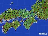 近畿地方のアメダス実況(日照時間)(2020年03月11日)