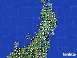 2020年03月11日の東北地方のアメダス(風向・風速)