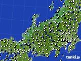 北陸地方のアメダス実況(風向・風速)(2020年03月11日)