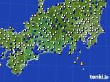 東海地方のアメダス実況(風向・風速)(2020年03月11日)