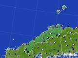 島根県のアメダス実況(風向・風速)(2020年03月11日)