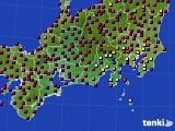 東海地方のアメダス実況(日照時間)(2020年03月12日)